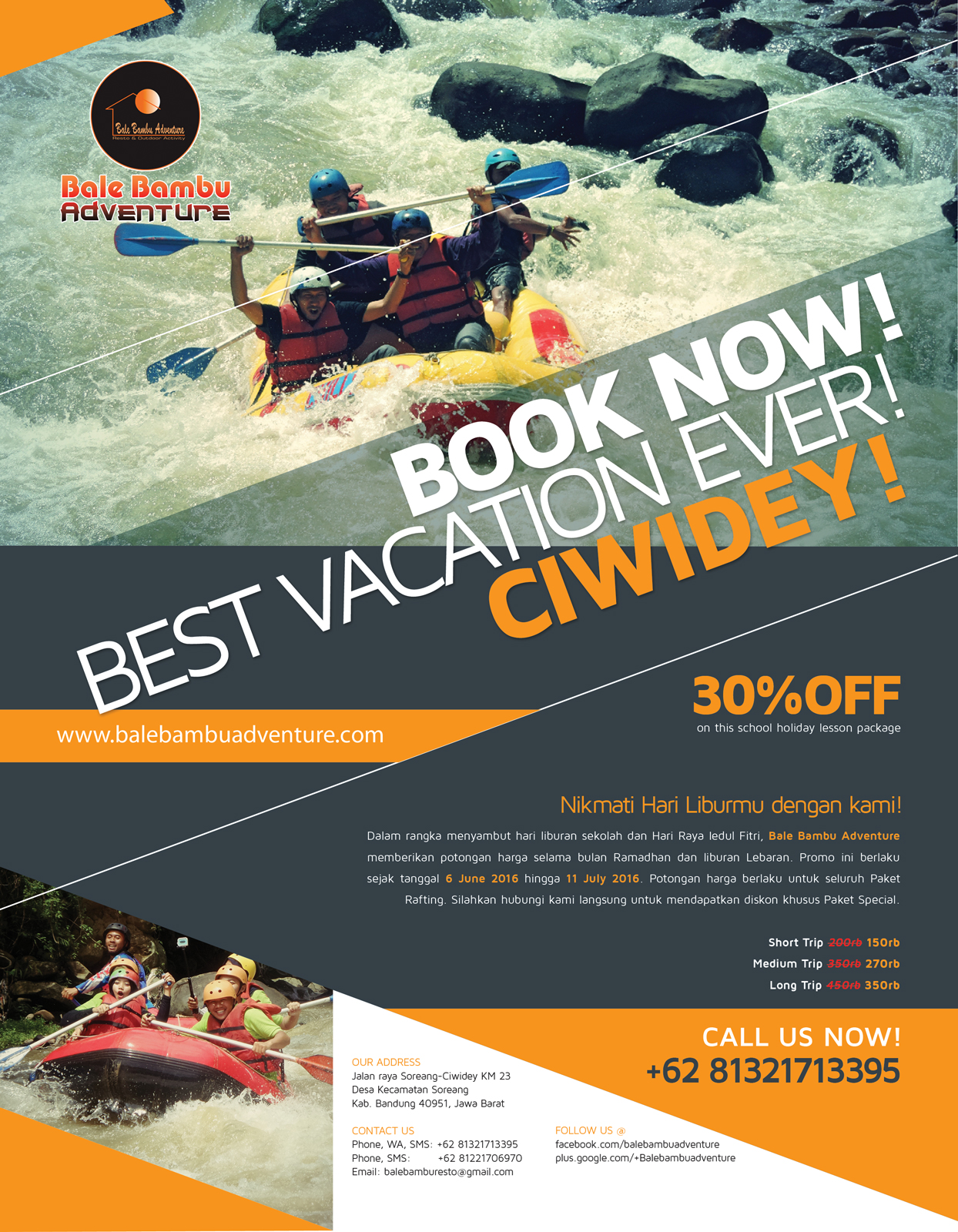 Bale Bambu Adventure Vacation Promo